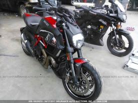 Damaged Ducati Diavel For Sale